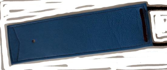 Fender bib en cuir doublé comme le tank panel