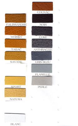 planche couleur cuirs N°3