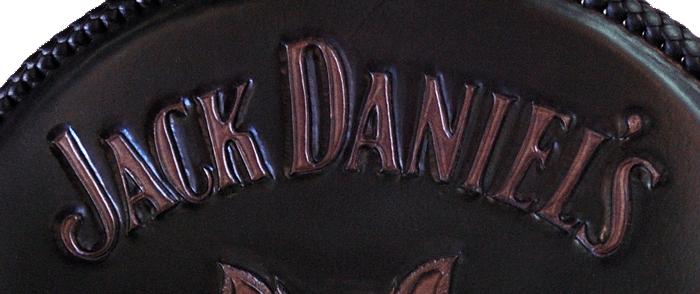 cuir repoussé marque Jack Daniel's