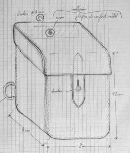 Schéma du boîtier bloque disque avant fabrication