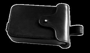 Sacoche bloque disque avec système de suspension pour fixation entre deux tubulures.