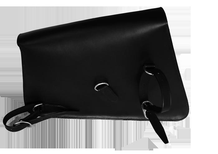 Vue de dos du solobag HD en cuir noir