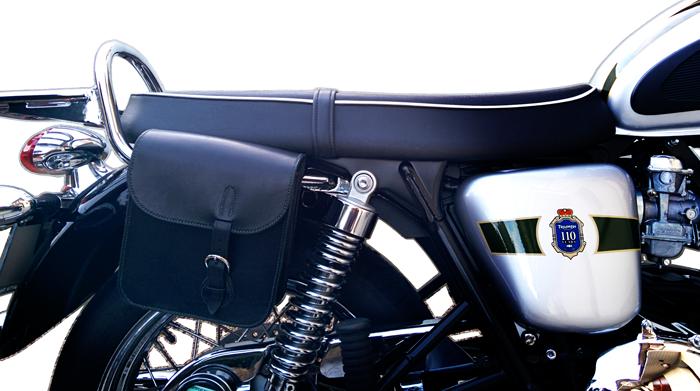 Sacoche en cuir pour Triumph Bonneville 110 Anniversaire