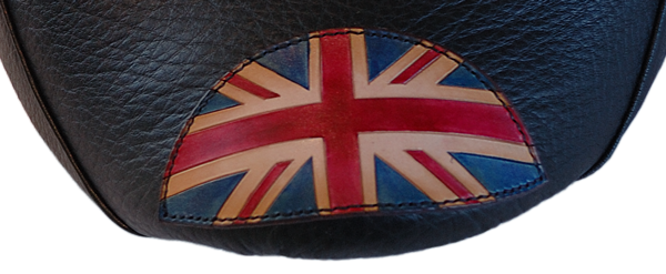 Selle Thunderbird motif Union Jack cuir teint à l'avant